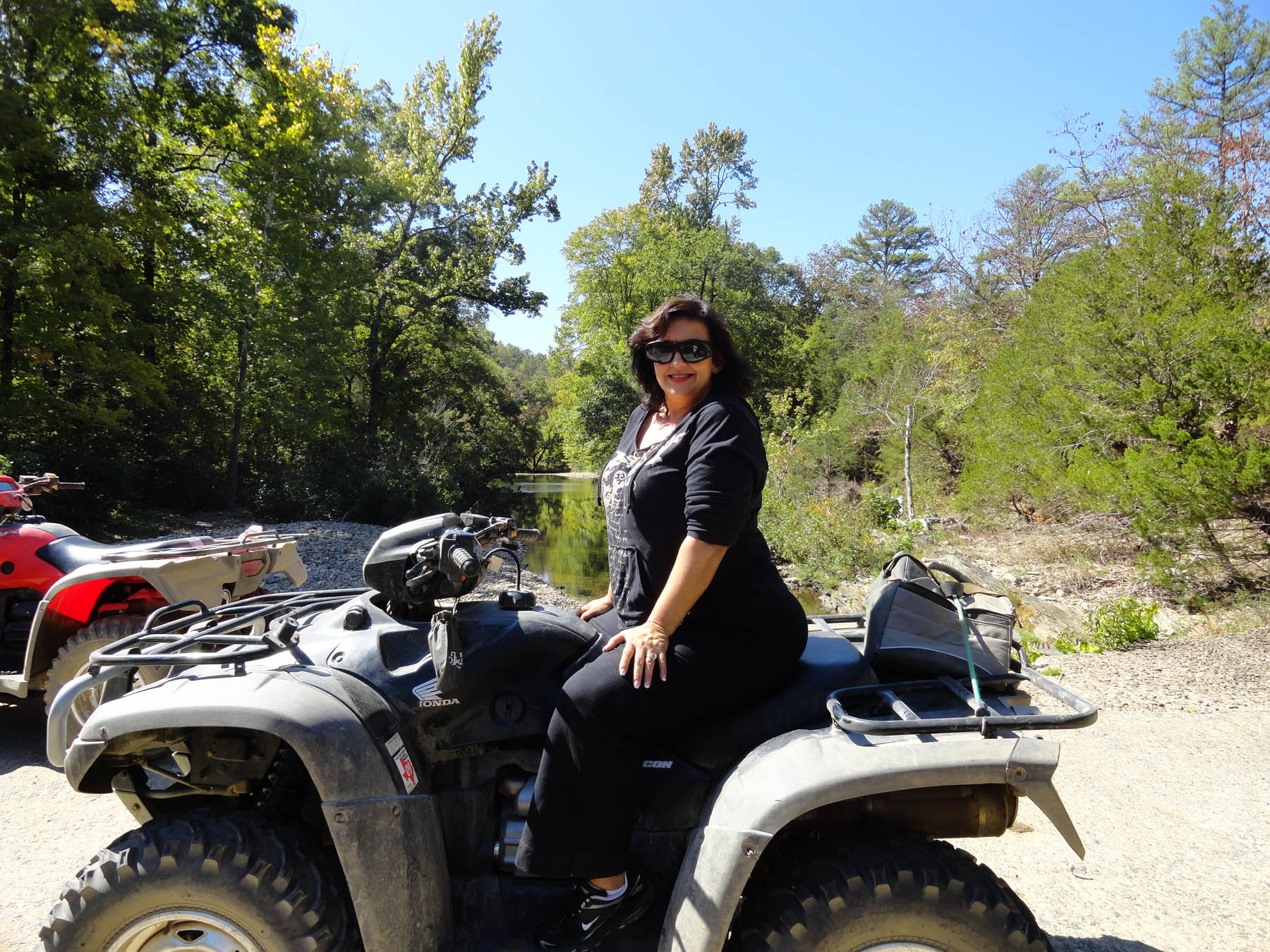 Woman on atv.