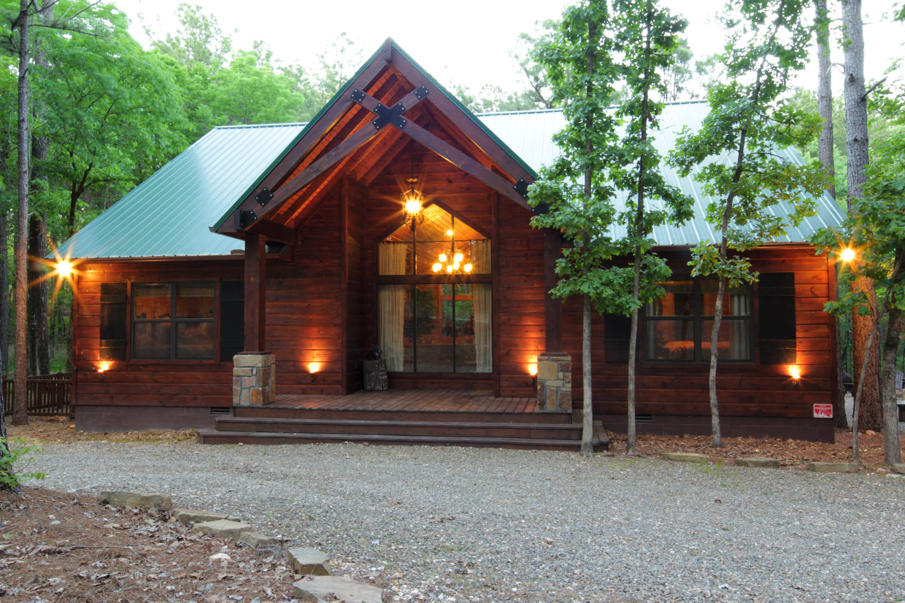 The Haven cabin exterior.