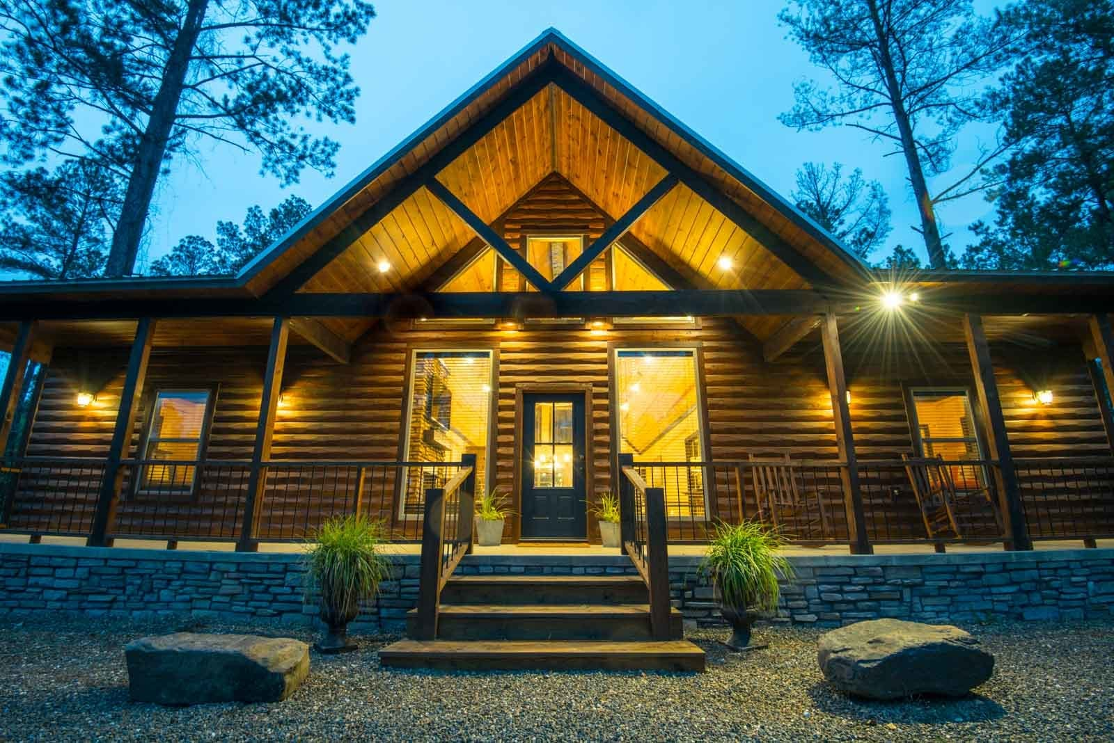 Wildflower cabin exterior.